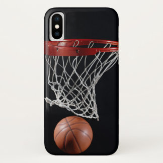 Basketball in Hoop iPhone X Case