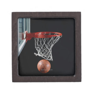 Basketball in Hoop Jewelry Box