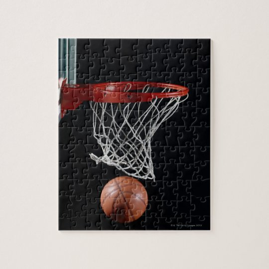 Basketball in Hoop Jigsaw Puzzle