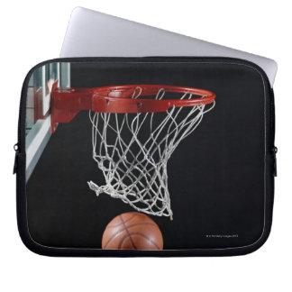 Basketball in Hoop Laptop Sleeve
