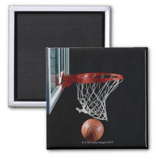 Basketball in Hoop Magnet