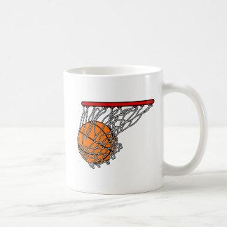 Basketball in hoop coffee mug