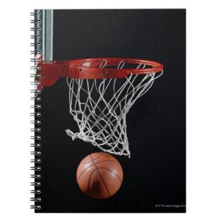 Basketball in Hoop Notebook