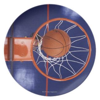 basketball in hoop plate