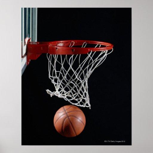 Basketball in Hoop Posters