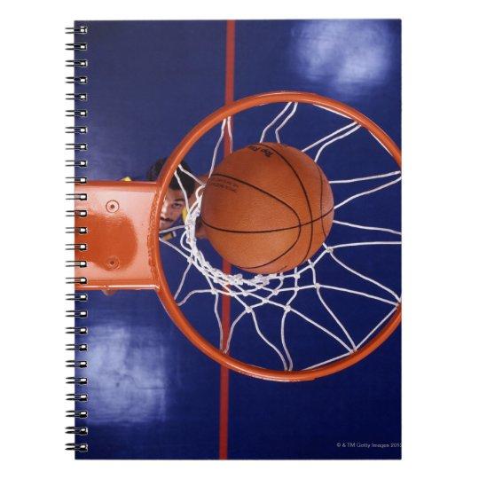 basketball in hoop spiral notebook