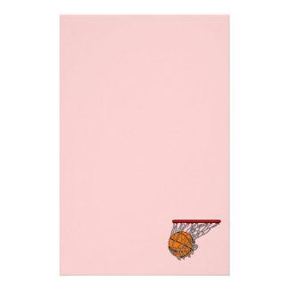 Basketball in hoop custom stationery