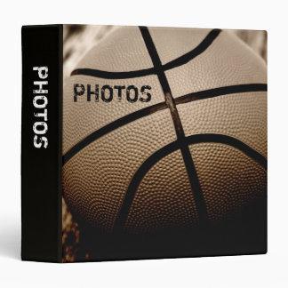 "Basketball in Sepia 1.5"" Photo Album 3 Ring Binder"
