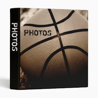 "Basketball in Sepia 1"" Photo Album 3 Ring Binder"