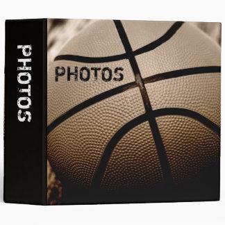 "Basketball in Sepia 2"" Photo Album 3 Ring Binder"