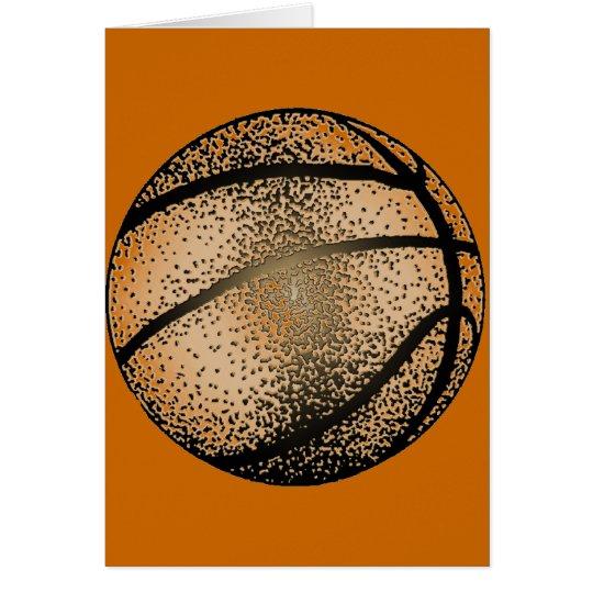 BASKETBALL IN SEPIA CARD
