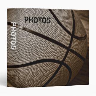 "Basketball in Sepia Tones 1.5"" Photo Album 3 Ring Binder"