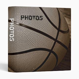 "Basketball in Sepia Tones 1"" Photo Album Binder"