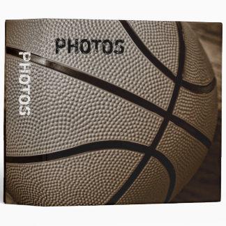 "Basketball in Sepia Tones 2"" Photo Album 3 Ring Binder"