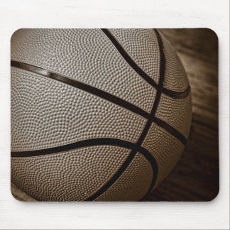 Basketball in Sepia Tones Mouse Pad