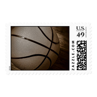 Basketball in Sepia Tones Postage