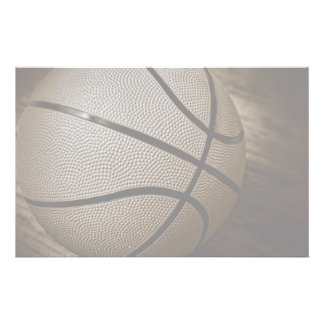Basketball in Sepia Tones Stationery