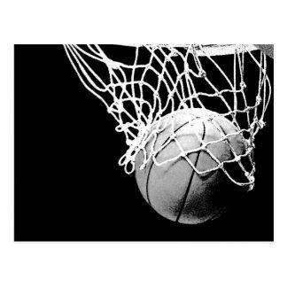 Basketball in Shadows Closeup Vertical Post Cards