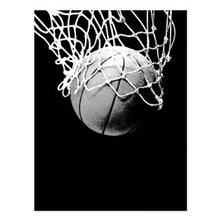 Basketball in Shadows Closeup Vertical Post Cards