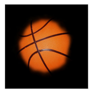 Basketball in Shadows Photo Art Poster