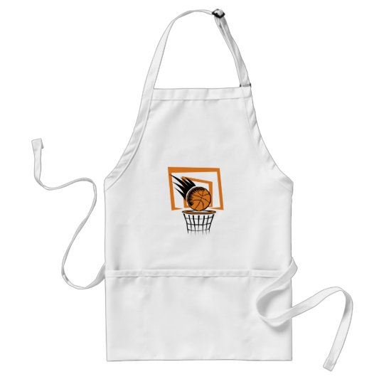 Basketball in the Basket Adult Apron