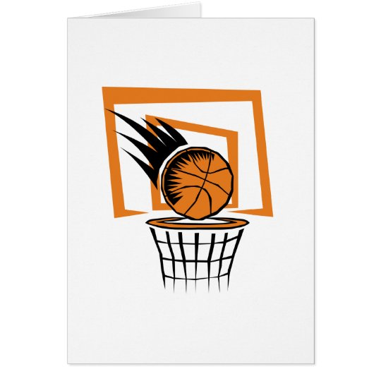 Basketball in the Basket Card