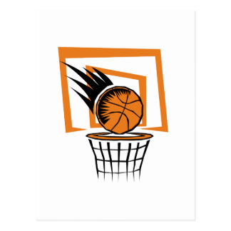 Basketball in the Basket Postcard