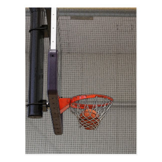 Basketball in the Net Postcard