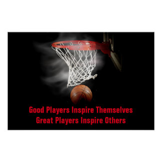 Basketball Inspirational Quote Inspire Players Poster