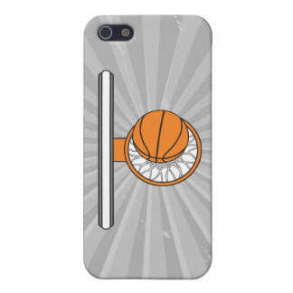 basketball into net top view graphic case for iPhone SE/5/5s