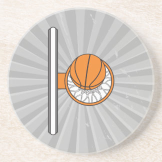 basketball into net top view graphic coaster