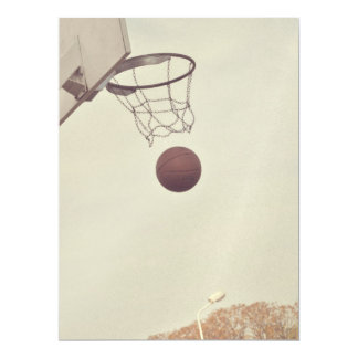 "Basketball 6.5"" X 8.75"" Invitation Card"