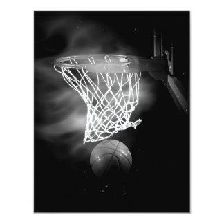 Basketball Invitations - B&W Basketball Invites