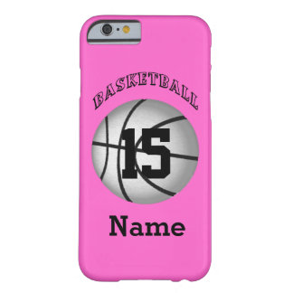 Basketball iPhone 6 Cases Your NAME and NUMBER Barely There iPhone 6 Case