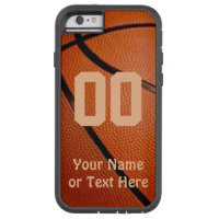 Basketball iPhone Cases, Your NAME, NUMBER Tough Xtreme iPhone 6 Case