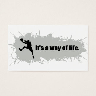 Basketball Is a Way of Life Business Card