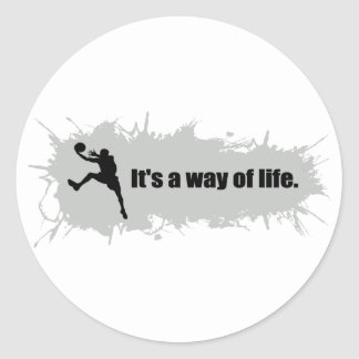 Basketball Is a Way of Life Classic Round Sticker