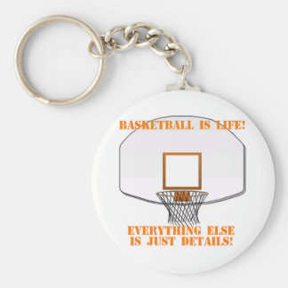 Basketball is Life Basic Round Button Keychain