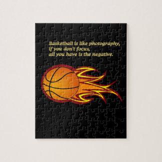 Basketball is like photography #6 jigsaw puzzle
