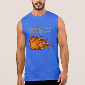 Basketball is like photography sleeveless shirt
