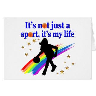 BASKETBALL IS MY LIFE BASKETBALL DESIGN CARD