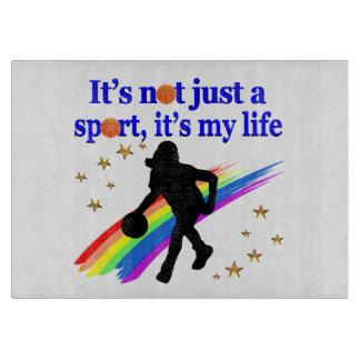BASKETBALL IS MY LIFE BASKETBALL DESIGN CUTTING BOARD