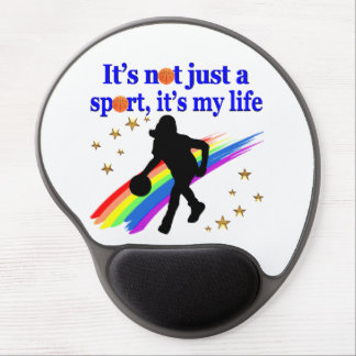 BASKETBALL IS MY LIFE BASKETBALL DESIGN GEL MOUSE PAD