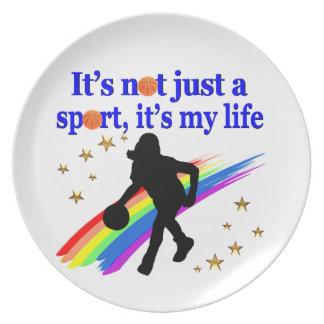BASKETBALL IS MY LIFE BASKETBALL DESIGN MELAMINE PLATE