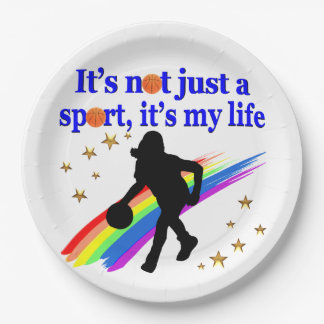 BASKETBALL IS MY LIFE BASKETBALL DESIGN PAPER PLATE