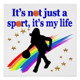 BASKETBALL IS MY LIFE BASKETBALL DESIGN POSTER
