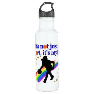 BASKETBALL IS MY LIFE BASKETBALL DESIGN WATER BOTTLE