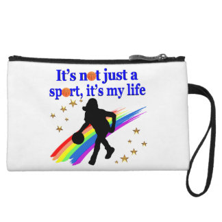 BASKETBALL IS MY LIFE BASKETBALL DESIGN WRISTLET WALLET