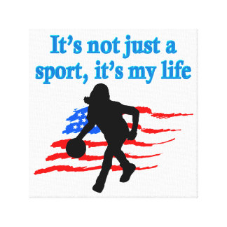 BASKETBALL IS MY LIFE CANVAS PRINT