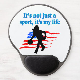 BASKETBALL IS MY LIFE GEL MOUSE PAD
